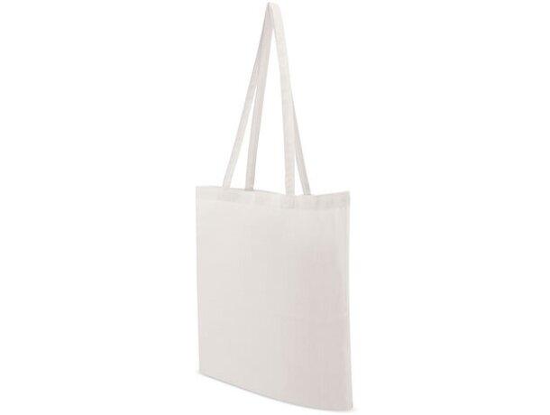 Bolsa de tela promocional para publicidad de empresas personalizada blanco