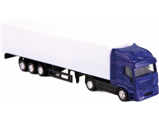Camión tráiler de juguete personalizado azul