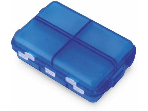 Pastillero semanala con 6 secciones personalizado azul