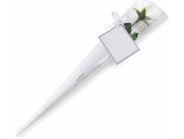 Estuche perfumado con flor personalizado blanco