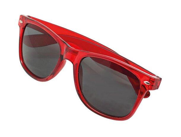 Gafas de sol transparentes rojo