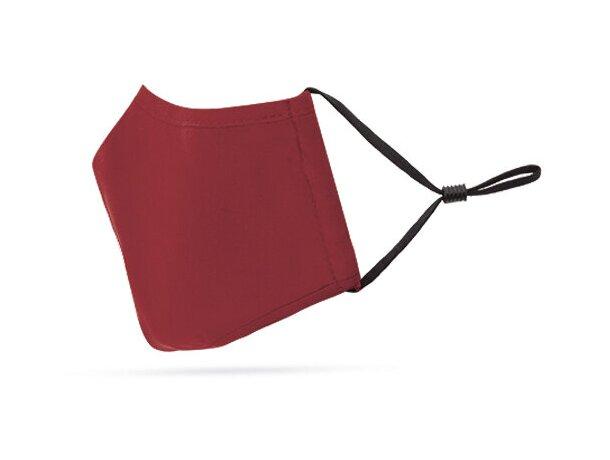 Mascarilla de tela personalizada con filtro de 3 capas rojo