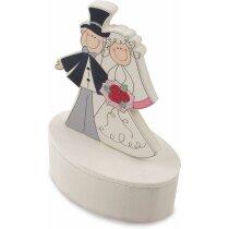 Cajita motivo de boda con imán personalizado