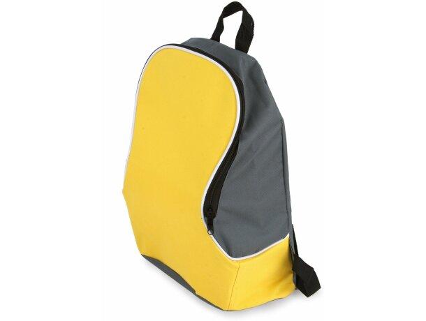 Mochila poliéster 600d colores combinados amarilla