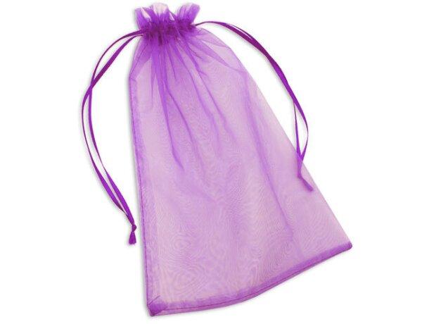 Bolsa de regalo de material organza lila