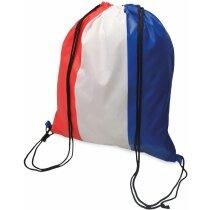 Bolsa mochila con cuerdas con bandera de Francia
