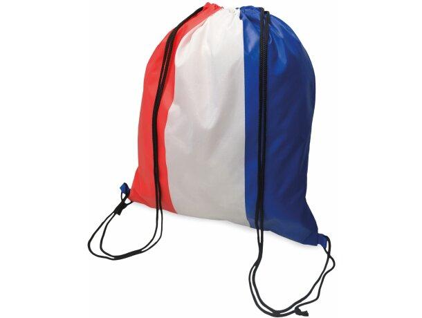 Bolsa mochila con cuerdas con bandera de Francia con logo