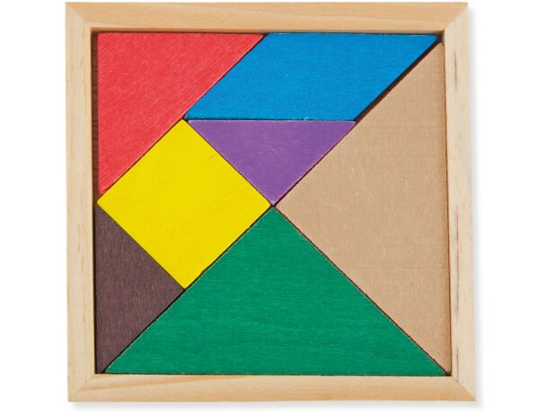 Puzzle de madera en colores personalizado