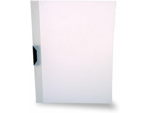 Carpeta dossier en PVC blanca