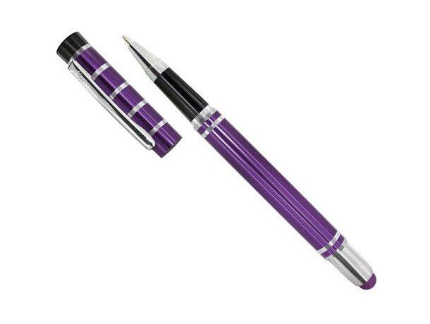 Bolígrafo de metal con lápiz táctil pierre deline lila