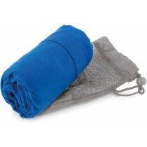 Toalla de microfibra de baño en funda 75x150 cm personalizada azul