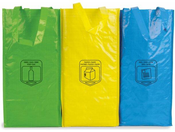 Bolsa triple para reciclar