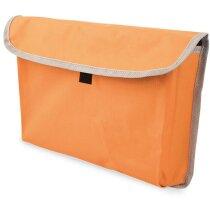 Bolsa portadocumentos de colores con ribete gris personalizada