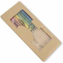 Caja de lápices con ceras surtidas personalizada