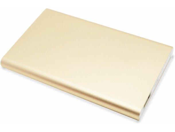 Batería portátil de 400 mah personalizada oro