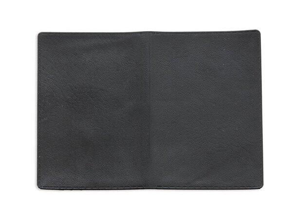 Tarjetero doble con dos bolsillos negro