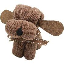 Toalla forma de perrito de regalo personalizada marron