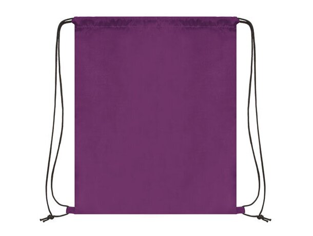 Bolsa mochila con cordones económica lila
