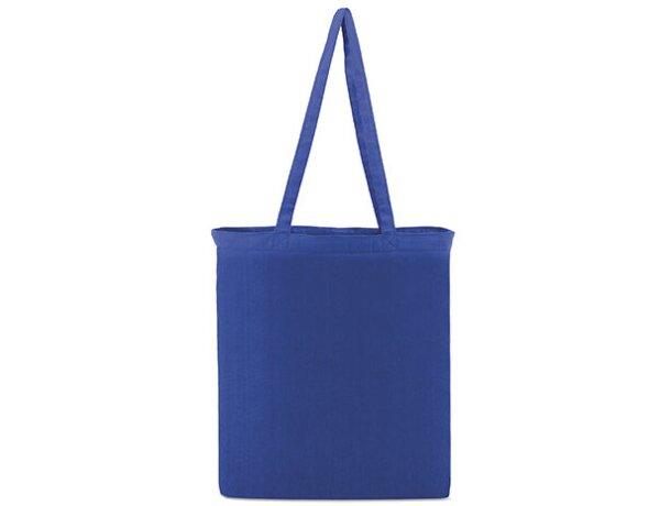 Bolsa de tela promocional para publicidad de empresas barata azul