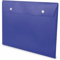 Carpeta de plástico tipo sobre azul