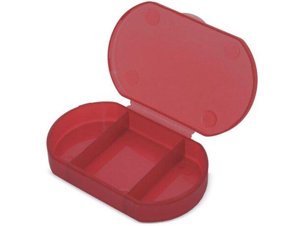 Pastillero de bolsillo en colores rojo