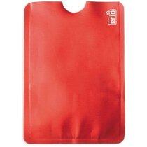 Tarjetero Aluminio Protection personalizado rojo