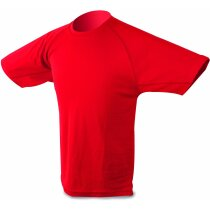 Camiseta técnica tallas de niño color roja