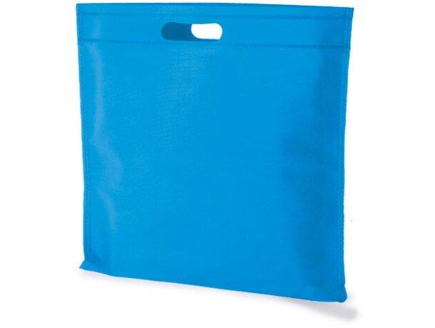 Bolsa cuadrada de non woven azul