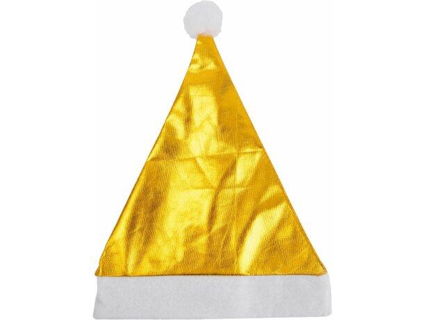 Gorro de Navidad metalizado barato oro