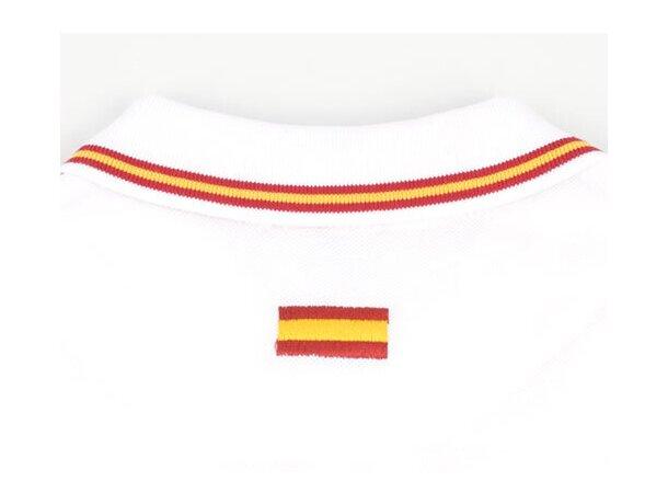 Polo de manga corta algodón de mujer detalles bandera