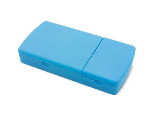 Pastillero cortador con 2 secciones extraibles azul