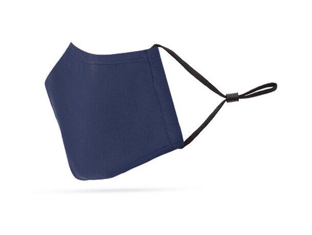 Mascarilla de tela personalizada con filtro de 3 capas azul marino