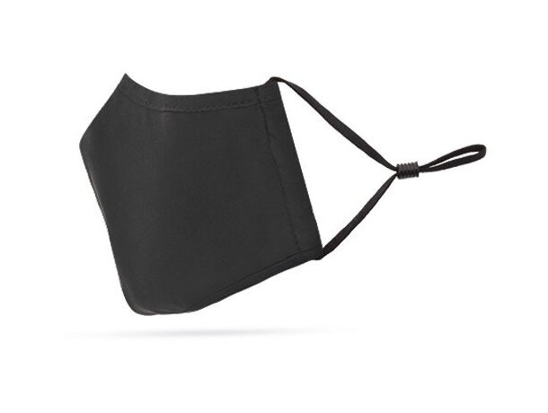 Mascarilla de tela personalizada con filtro de 3 capas negro