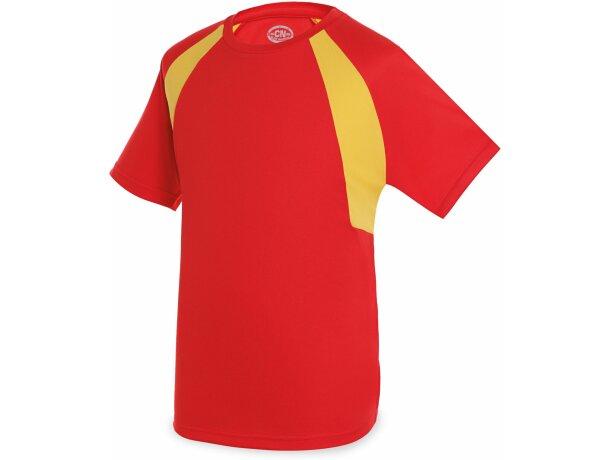 Camiseta técnica colores bandera unisex