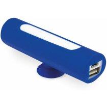 Batería portátil con ventosa con logo azul