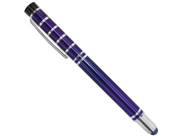 Bolígrafo de metal con lápiz táctil pierre deline azul