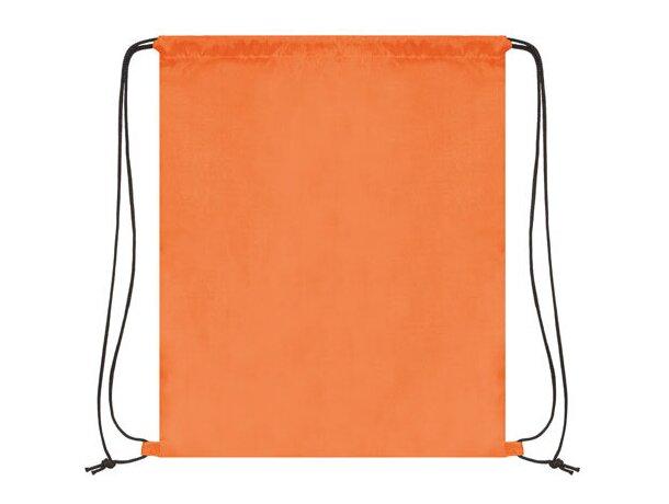 Bolsa mochila con cordones económica naranja