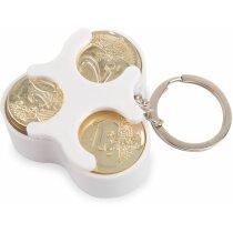 Llavero clasificador monedas blanco