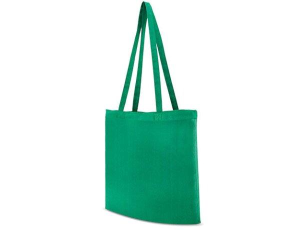 Bolsa de tela promocional para publicidad de empresas verde