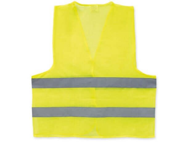 Chaleco de poliester de alta visibilidad amarilla