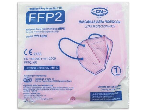 Mascarilla ultra proteccion de colroes ffp2 rosa