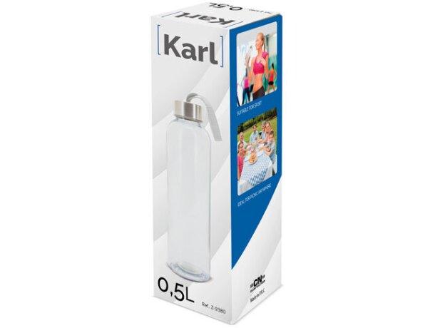 Bidon personalizado transparente karl de 500 ml