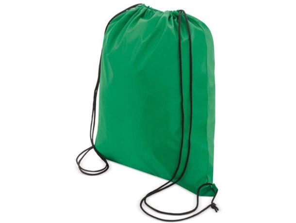 Bolsa mochila con cordones económica verde