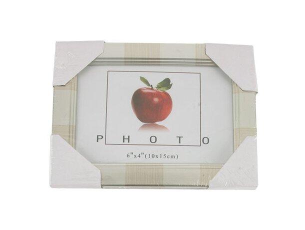 Portafotos de madera 10x15 cm plata