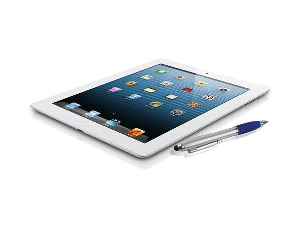Bolígrafo con puntero para smartphone blanco