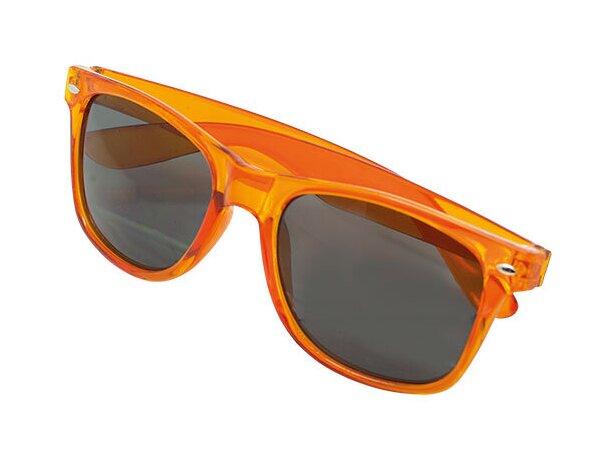 Gafas de sol transparentes naranja