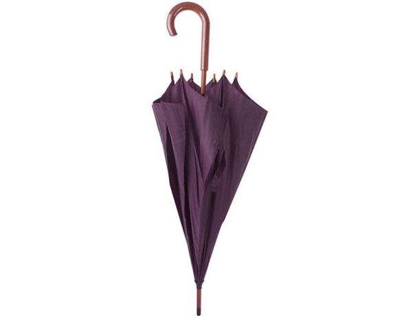 Paraguas con mango de acero lila
