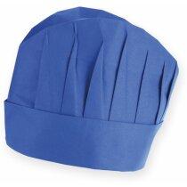 Gorro de cocina ligero y ajustable azul barato