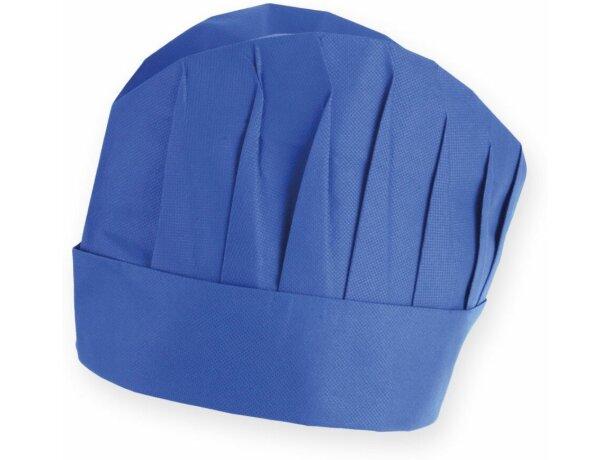 Gorro de cocina ligero y ajustable azul