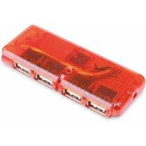 Puerto usb con 4 puertos 2.0 personalizado rojo